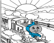 Thomas the tank engine online coloring rajzfilm játékok